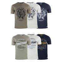 Mens Firetrap T-Shirt Graphic Short Sleeved Crew Neck Tee Top