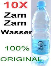 10 x Zamzam Acqua in Mecca Fontana Kaaba 100% Originale Allah Islam Muslim
