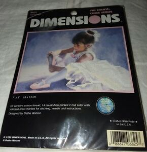 Dimensions Cinderella Kit 6825 No Count Cross Stitch Kit USA 1999 New 7 x 5