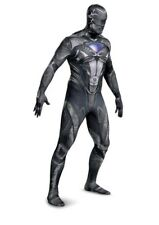Adult Men's Saban's Power Rangers BLACK Ranger Full Bodysuit Costume Size XXL