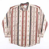 Vintage HIGHLAND Multicoloured Crazy Patterned Shirt Men's Size Medium
