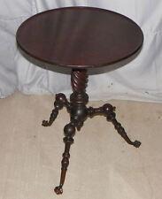 Antique Victorian Mahogany Small Pedestal Table