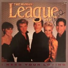 """PHIL OAKEY HAND SIGNED HUMAN LEAGUE 12"""" VINYL I NNED YOUR LOVING."""