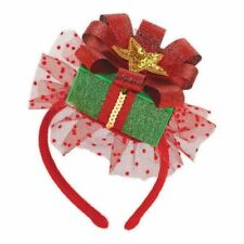 Christmas Gift Fascinator Headband Hat Present Xmas Fancy Dress Accessory New