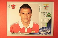 PANINI CHAMPIONS LEAGUE 2012/13 N. 476 LIMA BENFICA BLACK BACK MINT!