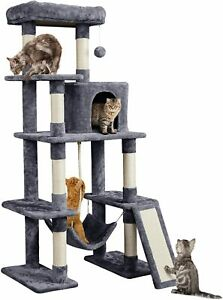 Multi Level Cat Activity Play Centre Kitten Scratching Post Tower House Bed Toy