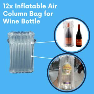 12x Inflatable Air Column Bag for Wine Bottle Waterproof Packaging Air Wrap Bag