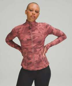 Lululemon Women's Define Nulux Fabric Lycra Jacket - Camo Brier Rose