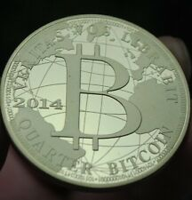 2014 year Gold Plated Bitcoin BTC 0.25 Physical Bit Coin souvenir Medal