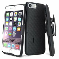 For Apple Iphone 8, 8 Plus Slim Holster Shell Combo Case [Kickstand] Belt Clip