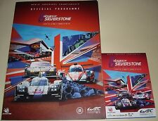 Le Mans WEC 6 Hours Of Silverstone 2017 Programme - Poster & Fold Out Mini Guide