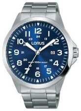 Lorus Mens Bracciale In Acciaio Quadrante Blu RH925GX9 Orologi PVC €70.00