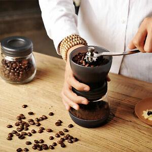 Manual Coffee Bean Grinder Adjustable Coarseness Ceramic Hand Held Mill Maker UK