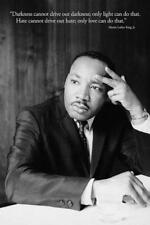 Martin Luther King MLK Famous Darkness Love Hate Quote Portait Poster - 24x36