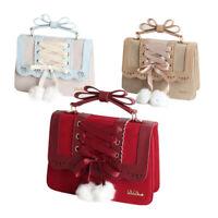 Sweet Lolita Handbag Shoulder Bag Lace Up Crossbody Messenger Bag Cosplay Bags