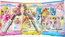Rare! GO! PRINCESS Pretty Cure CRYSTAL PRINCESS ROD Complete set of 3 BANDAI F/S
