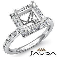 Diamond Engagement Princess Shape Proposed Halo Ring Platinum 950 Semi Mount 1Ct