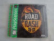 Playstation 1 PS1 Road Rash 3-D Game complete in case w/ manual CIB