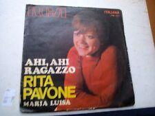 """7"""" RITA PAVONE AHI AHI AGAZZO MARIA LUISA 1970 EX/EX ut"""