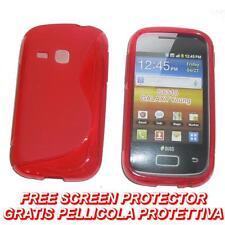 Pellicola + Custodia cover case WAVE ROSSA per Samsung Galaxy Young S6310 (B7)