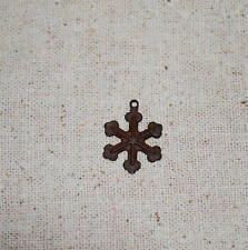 "100 -- Primitive Rusty Tin 3/4"" SNOWFLAKES  -- crafts"