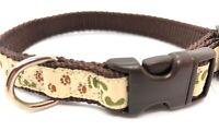 Paw Footprint Dog Collar, Douglas Paquette, XS, Adjustable, BRAND NEW, FREE SHIP