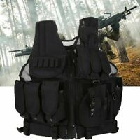 Portable Military Swat Battle Tactical Airsoft Combat Assault Plate Carrier Vest