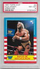 HULK HOGAN 1987 TOPPS WWF Wrestling Trading CARD #3 WWE WCW NWO Hulkamania PSA