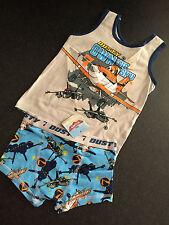 BNWT Boys Sz 2-3 Disney Planes Print Underwear Singlet/Tank & Trunk Undies Set