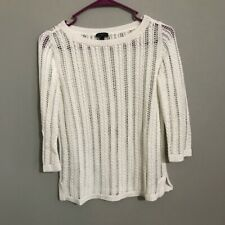 Talbots - White 3/4 Sleeve Sweater Size P