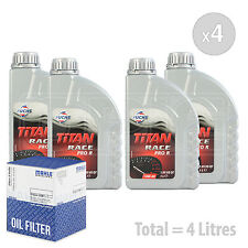 Engine Oil and Filter Service Kit 4 LITRES Fuchs Titan Race Pro R 10W-40 4L