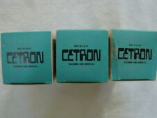 Matched trio of 3 NOS CETRON 6336A 6336 Vacuum Tubes
