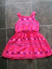 BNWT Girl's Pink, Orange, Blue & White Sheer Polyester Summer Dress Size 3