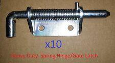 10 Zinc Plated 3 inch HEAVY DUTY Spring Release Hinge/Gate Latch DIY/Door 1046