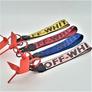 "Off-White Inspired Industrial ID Badge Wrist Strap 10.5"" Keychain Lanyard"