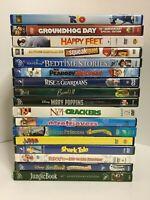 DVD Lot Of 17 Children's Animated DVDs Pixar Disney & Dreamworks Collection Set