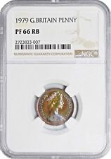 1979 PF66 RB Great Britain New Penny UNC NGC KM# 915 PROOF Pop 2/1 TONED!