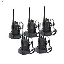 Walkie Talkies 2 Two Way Radios Long Range FRS GMRS Portable Handheld 5 Pack Set
