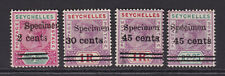 Seychelles. 1902. SG 41s-45s. Specimens. Mounted mint.