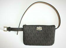 Michael Kors Belt Bag Waist Wallet MK Logo Dark Brown S / M  Large NWT New