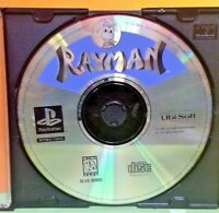 Rayman 1 - Playstation 1 PS1 2 PS2 - Rare Game - Tested Long Box Original Disc