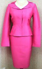 LK Bennett ~ UK12 ~ hot pink, silk & wool mix, fitted jacket & pencil skirt suit