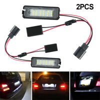 2x LED Number License Plate Lights Lamp For VW GOLF MK4 MK5 MK6 Seat Passat EOS