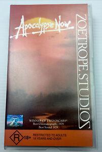 Apocalypse Now Marlon Brando Robert Duvall  VHS Video Cassette Tape PAL R18+
