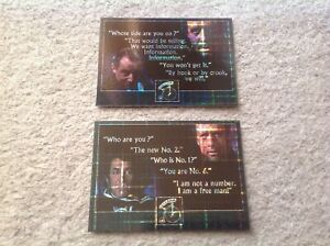 THE PRISONER TV SERIES VOLUME 1 CLASSIC DIALOGUE CARDS PHF2 PHF3 2 CARDS INC