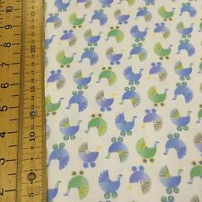 Fabri-Quilt - Sleepy Time - Prams Blue Fabric - 100% Cotton Fabric Patchwork