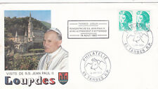 France 1983 Meeting of Pope Paul II with Mitterand Tarbes Commem Cover VGC
