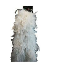 Costume Party Accessory 1920s Flapper Gangster Burlesque Deluxe Boa 180cm White