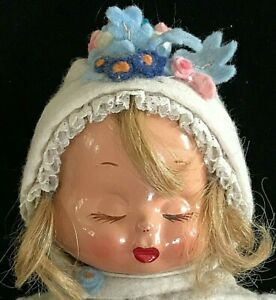 """VINTAGE 14"""" TRUDY COMPOSITION DOLL 3 FACES SMILEY WEEPY SLEEPY  CLOTHES"""