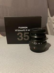 Fujinon XF35mm F2 R WR camera lens. Fits all x-mount fujifilm cameras (boxed)